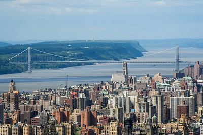 George Washington Bridge in New York City over the Hudson River