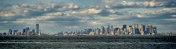 Newark and New York City Skyline - Panoramic