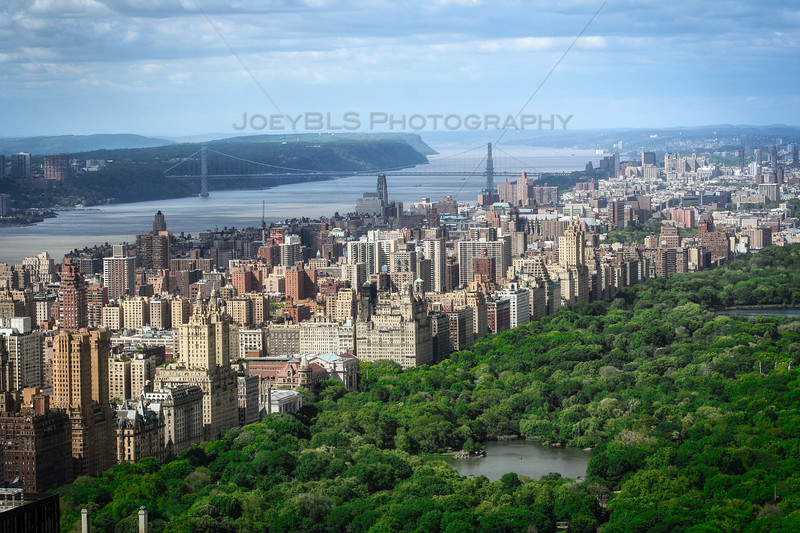 The Upper West Side, Central Park, and the George Washington Bridge over the Hudson River