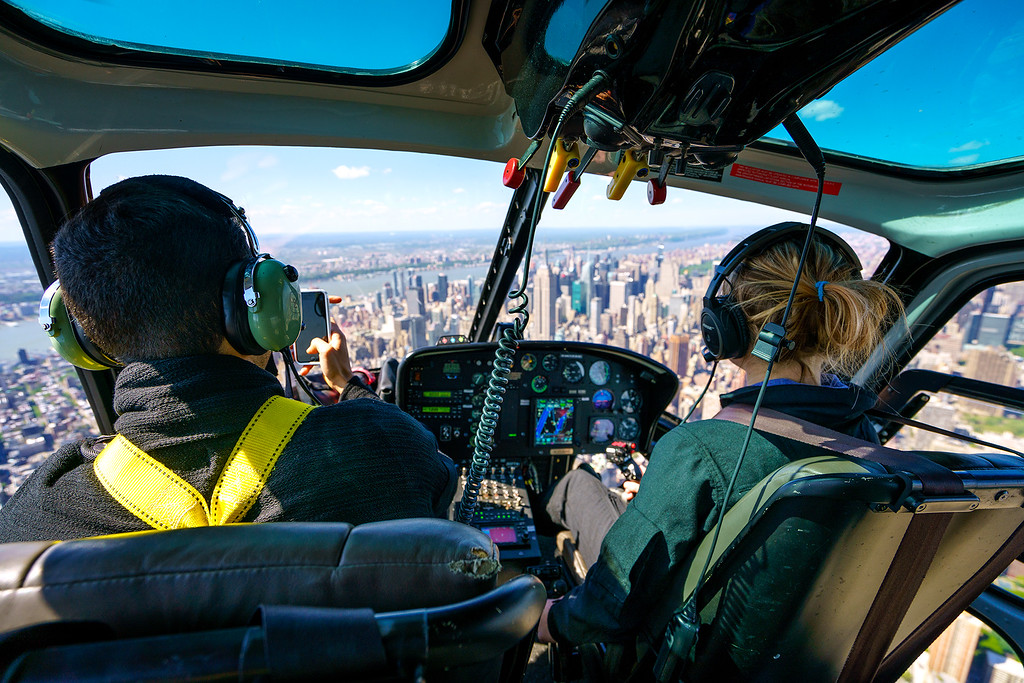 Inside the Helicopter - Manhattan