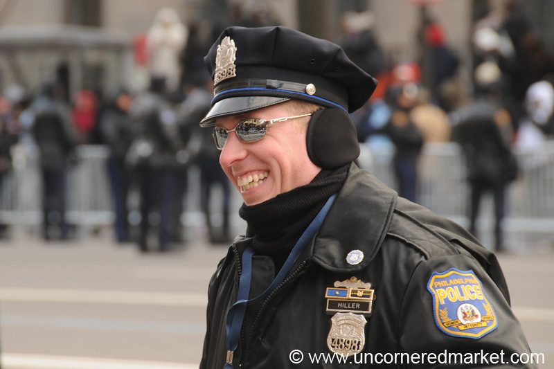 Laughing Police Officer - Washington DC, USA