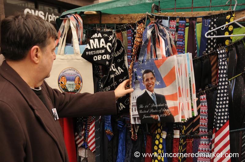 Obama Souveniers, Inauguration - Washington DC, USA
