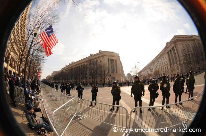 Security Line on Pennsylvania Avenue - Washington DC, USA