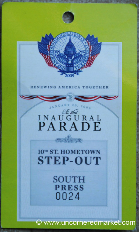 An Inaugural Press Pass - Washington DC, USA