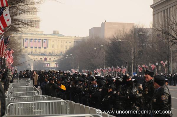 Police Lining Up - Washington DC, USA