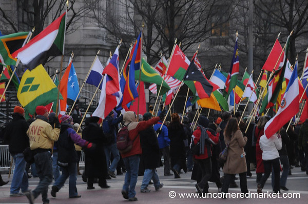 Waving Flags - Washington DC, USA