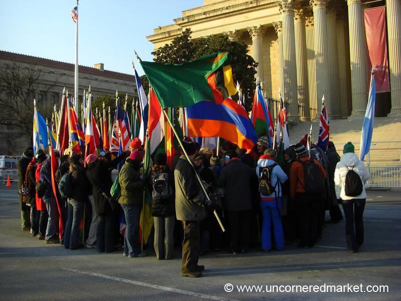 Huddling Together for Warmth - Washington DC, USA