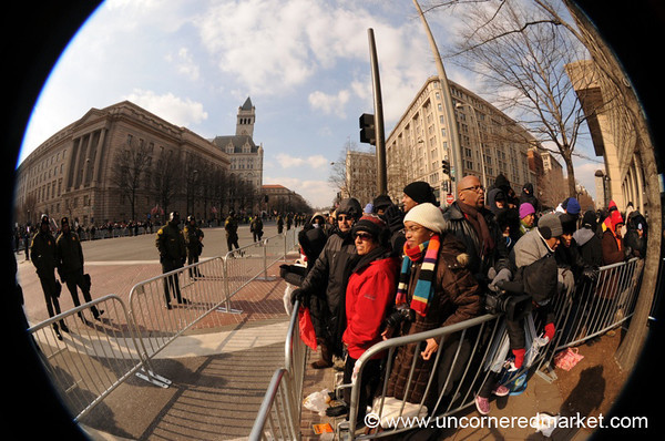 Parade Route Crowd on Pennsylvania Avenue - Washington DC, USA