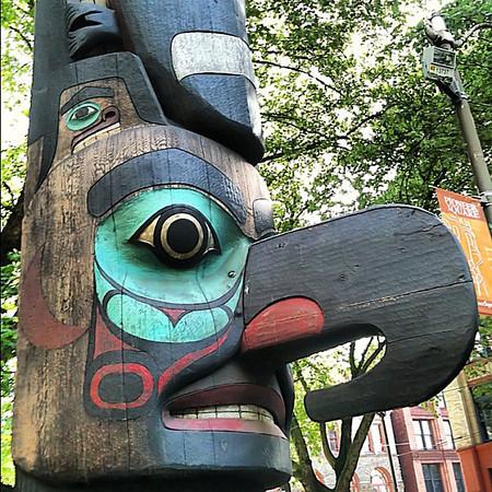 Tlingit totem pole, Pioneer Square, Seattle
