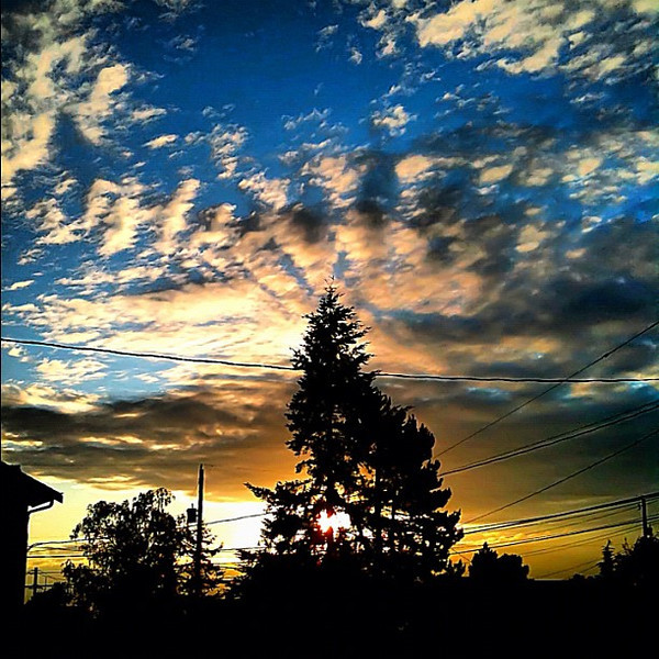 West #Seattle, partly cloudy with a chance of amazing sky