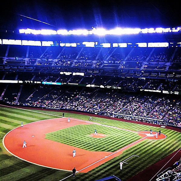 #Seattle Mariners vs. #Baltimore Orioles, Safeco Field at night