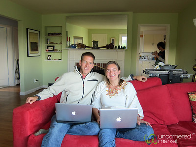 Audrey & Dan on the Red Couch - Seattle, Washington