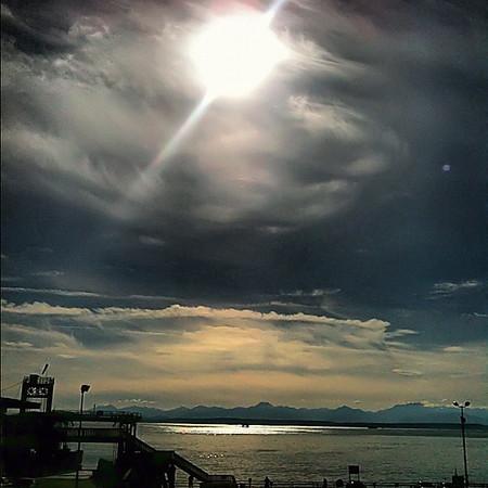 Seattle sunshine at sundown, Pier 52