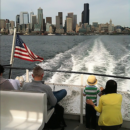 Seattle skyline + Americana, via the water taxi