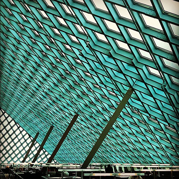 Seattle Public Library - public places, geometric spaces #architecture
