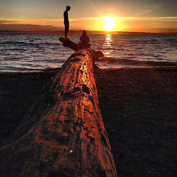 Have you ever been faced with an image that has an iconic quality, like you're certain you've seen it -- maybe on an album or movie trailer? But maybe it's just a pocket of beauty in everyday life. That's this image for me: two people on a giant drift log