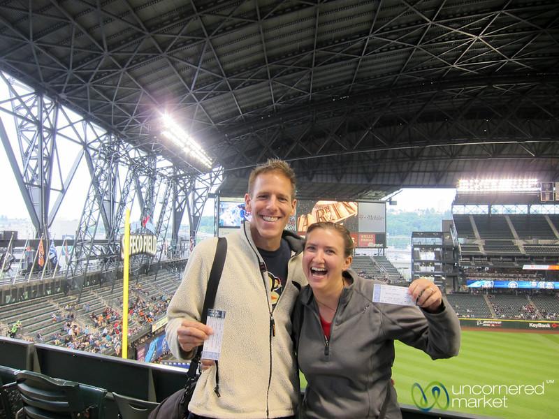 Audrey & Dan at a Mariner's Baseball Game - Seattle, Washington