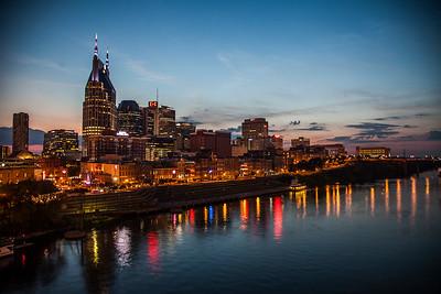 Nashville Skyline after Sunset