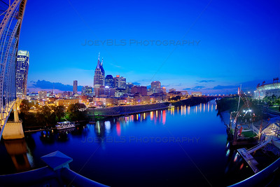 Nashville, Tennessee Skyline after Sunset