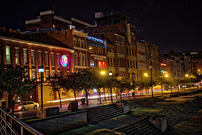 1st Ave in downtown Nashville, Tennessee