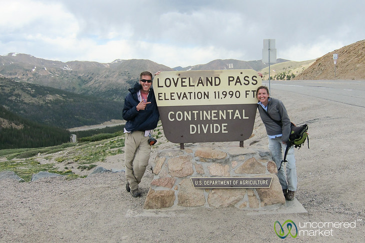 Taking a Break at the Continental Divide - Loveland Pass, Colorado
