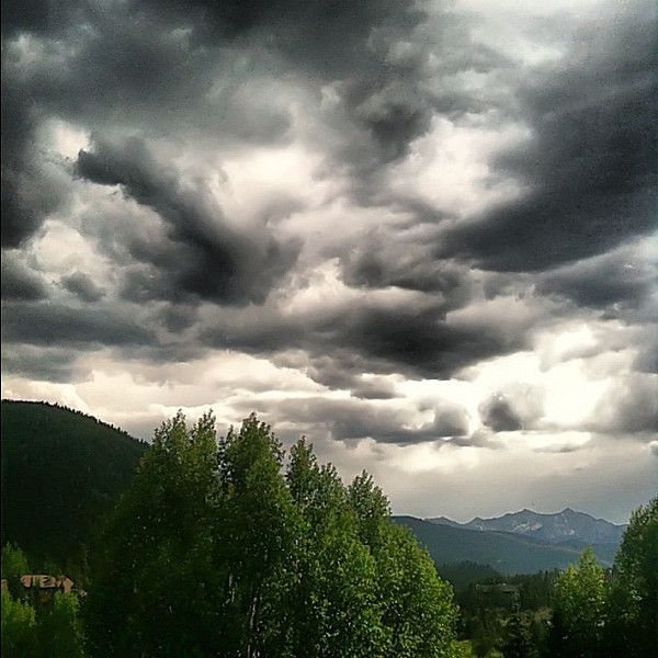 Rocky mountain view from our deck - #Keystone, #Colorado #TBEX #cloudporn #skyporn