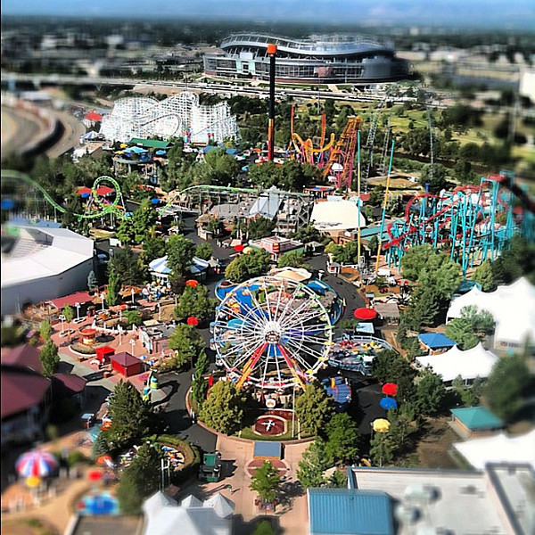 Elitch Gardens - nearly pooped my pants shooting this at 250 feet up #Denver #TBEX #TBEXRR #teampink
