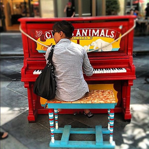 Animal cracker public piano - 16th St. #Denver #Colorado