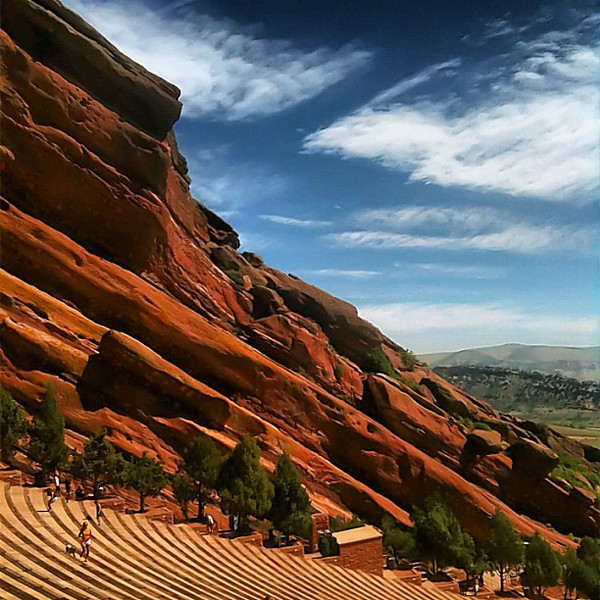 Red Rocks morning workout - #Denver #Colorado
