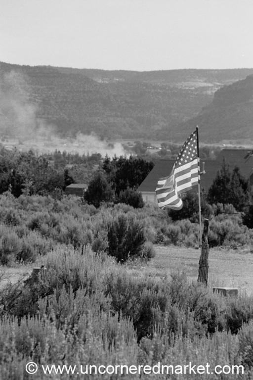 American Flag at Bryce Canyon, Utah - United States