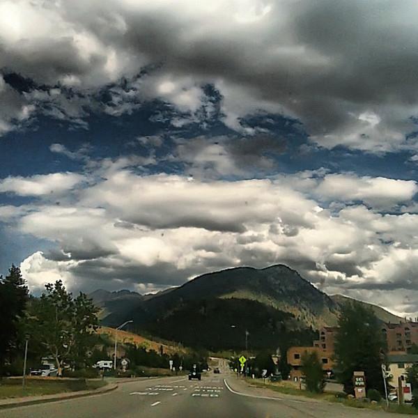 Open road, wandering minds in Summit County, #Colorado - #Keystone #TBEX #cloudporn #sky