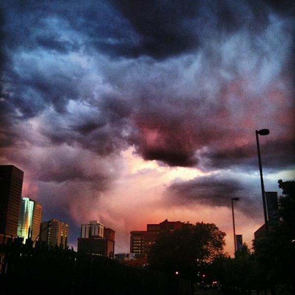 #Denver #sunset, one of the more impressive I've seen #Colorado #sky