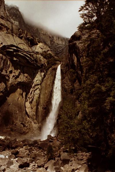 Waterfall at Yosemite National Park - Calfornia, USA