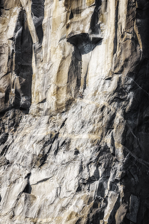 Look closely...Climbing in Yosemite is insane!