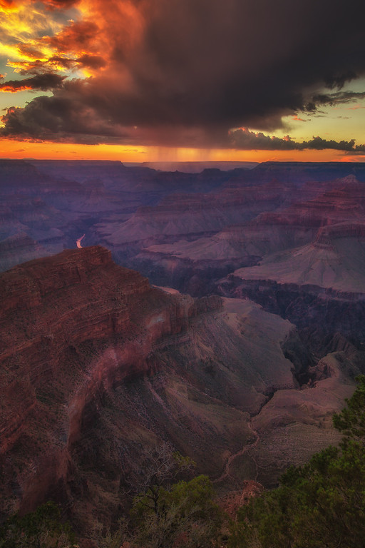 Sunset is a perfect time to enjoy the Grand Canyon