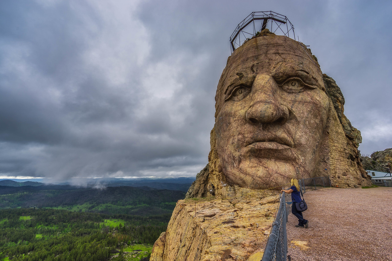 Face to face with Crazy Horse in South Dakota, USA