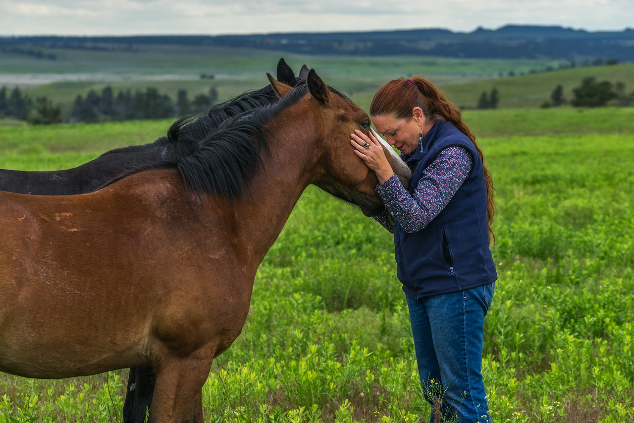 Becoming one with the Wild Mustangs in the Black Hills of South Dakota.