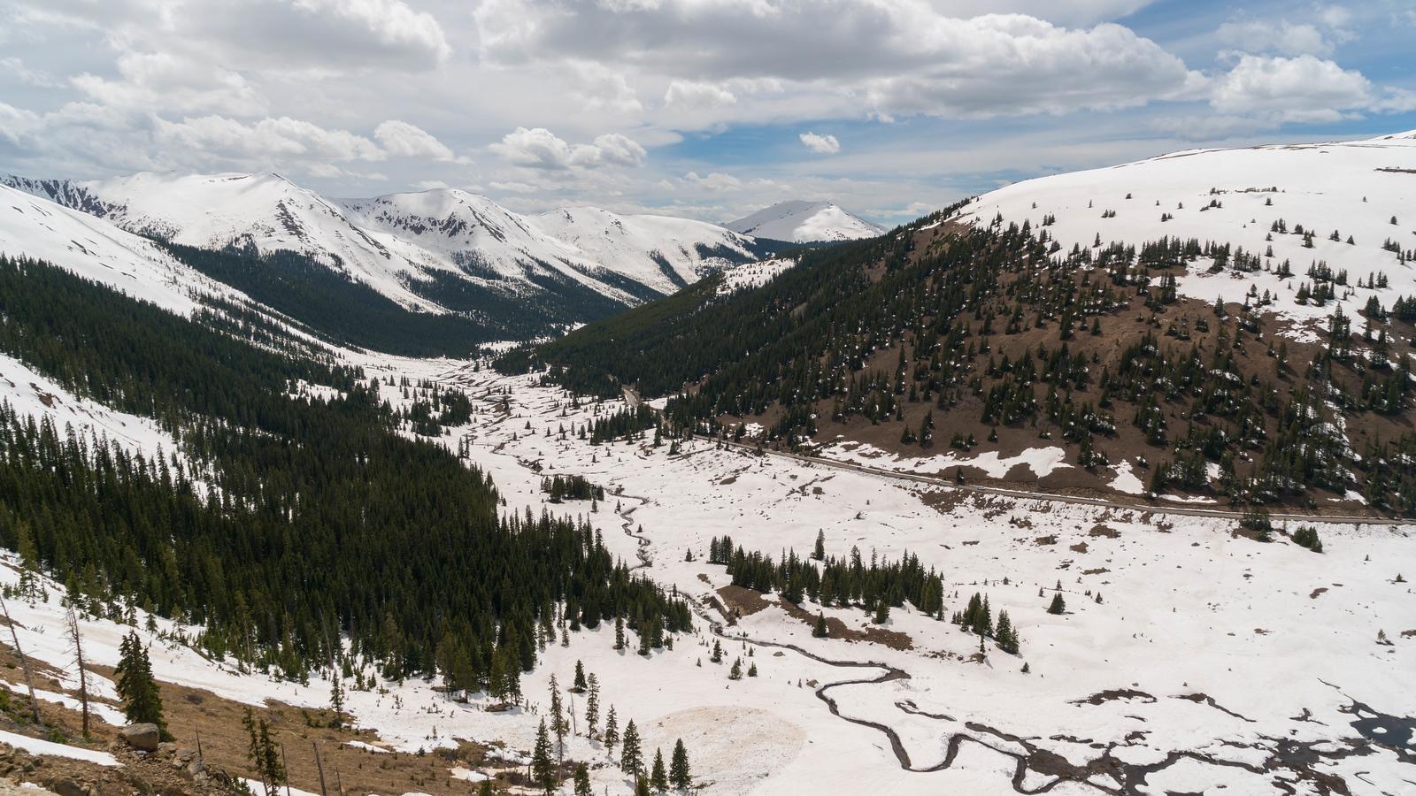 Winter sets in over the Colorado Rockies.