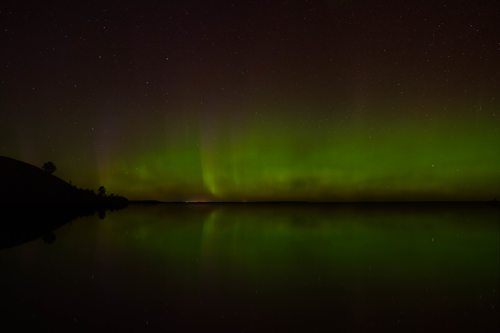 The Northern Lights near Alpena, Michigan