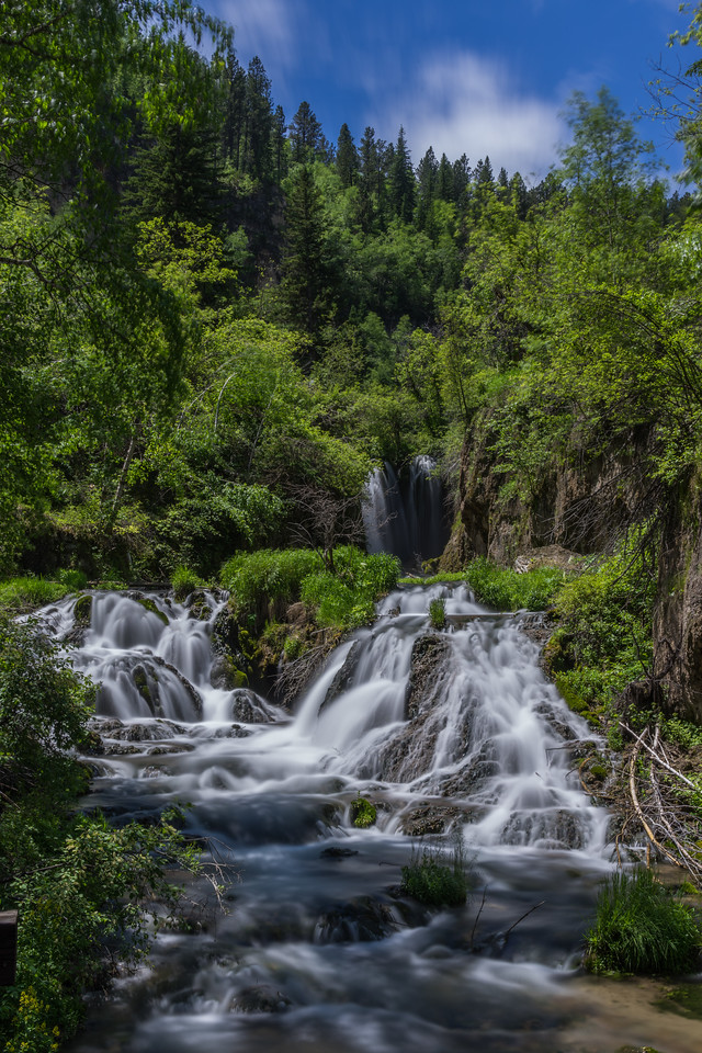 A quick hike in Spearfish Canyon will bring you to Roughlock Falls.