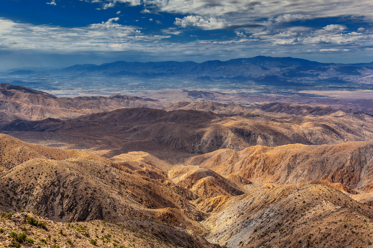 Looking over Death Valley National Park