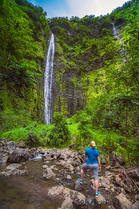 Waterfall in Haleakala National Park