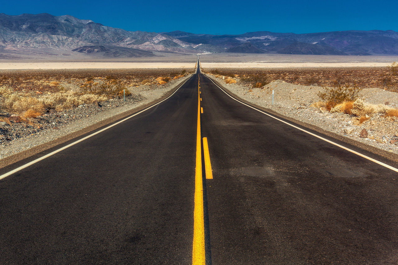 On the road to Death Valley