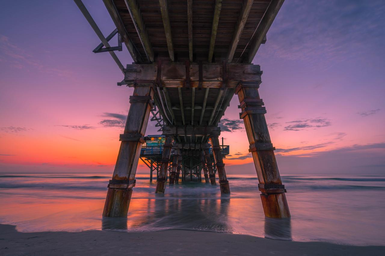 Sunrise in Daytona Beach, USA
