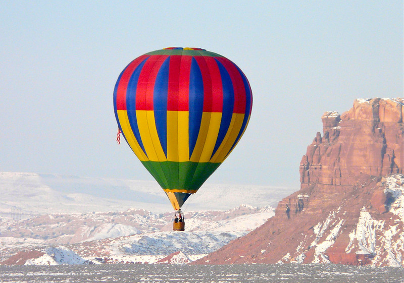 Hot Air Balloon in the Red Rocks of Utah