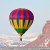 Hot Air Balloon in the Red Rocks of Utah