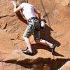 Learning to rock climb in Moab, Utah