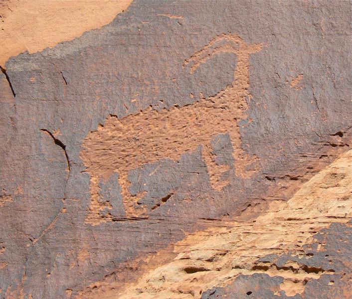 Petroglyph in Moab, Utah