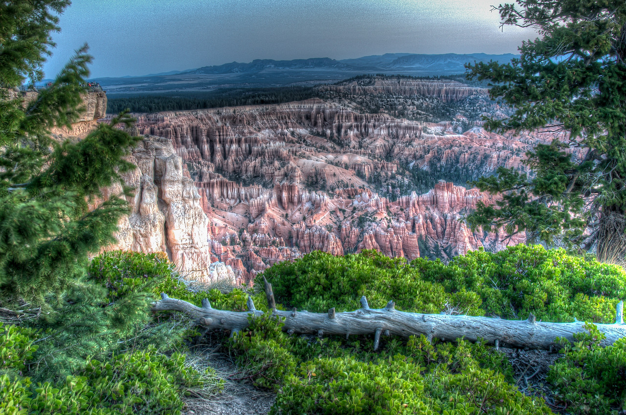 Overlooking view of Bryce Canyon National Park, Utah