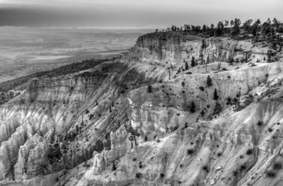 Bryce Canyon National Park in B&W - Utah